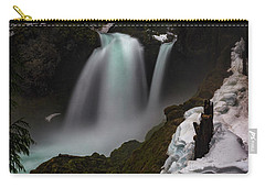 Carry-all Pouch featuring the photograph Sahalie Falls by Cat Connor