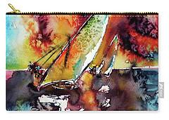 Sailboats At The Sunshine Carry-all Pouch by Kovacs Anna Brigitta