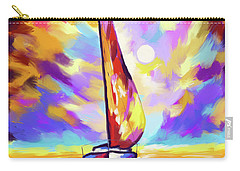 Sailbout Sunset Carry-all Pouch by Tim Gilliland