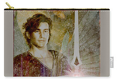 Saint Michael The Archangel Carry-all Pouch by Suzanne Silvir