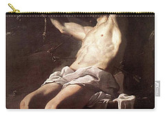 Saint Sebastian By Mattia Preti Carry-all Pouch