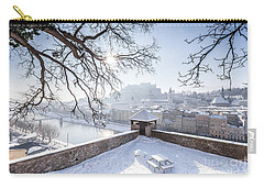 Salzburg Winter Dreams Carry-all Pouch by JR Photography