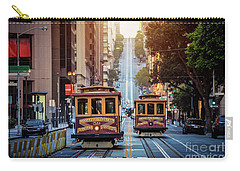 San Francisco Cable Cars Carry-all Pouch by JR Photography