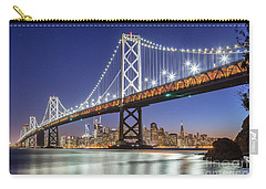 San Francisco City Lights Carry-all Pouch by JR Photography