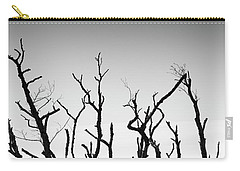 Carry-all Pouch featuring the photograph Sand Dune With Dead Trees by Chevy Fleet
