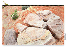 Carry-all Pouch featuring the photograph Sandstone Cove In Valley Of Fire by Ray Mathis