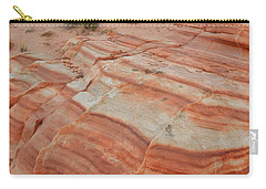 Carry-all Pouch featuring the photograph Sandstone Stripes In Valley Of Fire by Ray Mathis