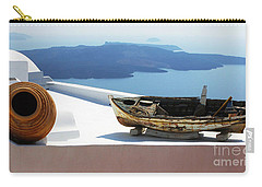 Santorini Greece Carry-all Pouch by Bob Christopher