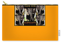 Carry-all Pouch featuring the painting Save  Our  Elephants by Hartmut Jager