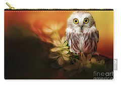 Saw-whet Owl Carry-all Pouch by Suzanne Handel