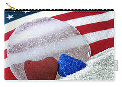 Sea Glass In Patriotic Colors  Carry-all Pouch