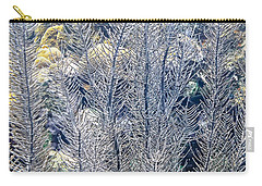 Carry-all Pouch featuring the photograph Sea Plumes Coral by Perla Copernik