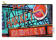 Seattle Public Market Carry-all Pouch by Marti Green