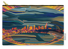 Carry-all Pouch featuring the digital art Seattle Swirl by Dale Stillman