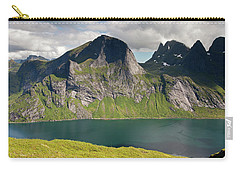 Segltinden And Kirkefjord From Brunakseltind Carry-all Pouch by Aivar Mikko