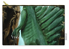 Carry-all Pouch featuring the painting Self-portrait- Meme by Ryan Demaree