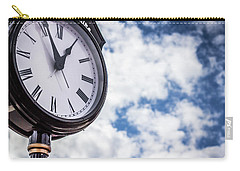Clock And Clouds In Senoia, Georgia Carry-all Pouch