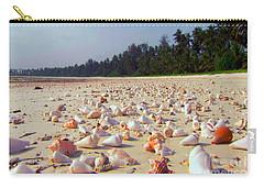 She Sells Sea Shells At The Sea Shore Seaweed And Sea Shells Beaches Of Zanzibar Tanzania Carry-all Pouch