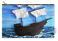 Carry-all Pouch featuring the mixed media Ship by Angela Stout