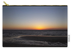 Ship Bottom Sunset Carry-all Pouch by Elsa Marie Santoro
