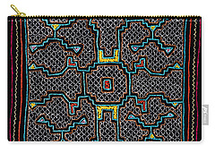 Carry-all Pouch featuring the photograph Shipibo Art by Ulrich Schade