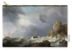 Ships In A Gale Carry-all Pouch