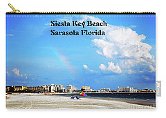 Carry-all Pouch featuring the photograph Siesta Beach by Gary Wonning
