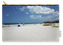 Carry-all Pouch featuring the photograph Siesta Key Beach by Gary Wonning
