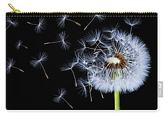 Silhouettes Of Dandelions Carry-all Pouch by Bess Hamiti