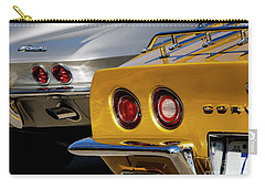 Silver And Gold Carry-all Pouch