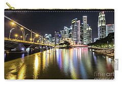 Singapore River At Night With Financial District In Singapore Carry-all Pouch