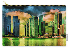 Singapore Skyline Carry-all Pouch by Joseph Hollingsworth