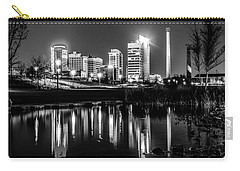 Skyline Of Birmingham Alabama From Railroad Park Carry-all Pouch by Alex Grichenko
