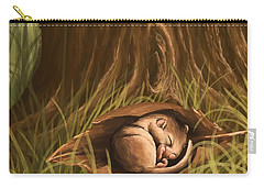 Carry-all Pouch featuring the painting Sleeping  by Veronica Minozzi