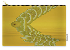 Carry-all Pouch featuring the photograph Slices Lemon Citrus Fruit by David French