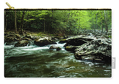Carry-all Pouch featuring the photograph Smoky Mountain River by Jay Stockhaus