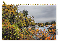 Snake River Greenbelt Walk In Autumn Carry-all Pouch by Yeates Photography
