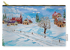 Winter Hamlet Carry-all Pouch by Mike Caitham