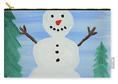 Snowman Carry-all Pouch by Anthony LaRocca