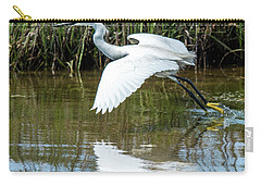 Snowy Egret Takeoff Carry-all Pouch