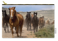 Sombrero Ranch Horse Drive, An Annual Event In Maybell, Colorado Carry-all Pouch