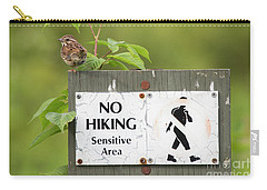Sparrow Carry-all Pouch by Jeannette Hunt