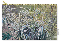 Carry-all Pouch featuring the painting Spider Mums by Donald Maier