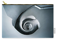 Spiral Staircase In Blue Tones Carry-all Pouch by Jaroslaw Blaminsky