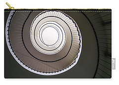 Spiral Staircase In Brown Tones Carry-all Pouch by Jaroslaw Blaminsky
