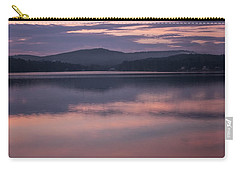 Carry-all Pouch featuring the photograph Spofford Lake Sunrise by Tom Singleton