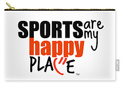 Sports Are My Happy Place Carry-all Pouch