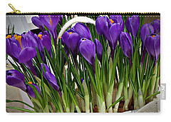 Spring Crocuses Carry-all Pouch by AmaS Art