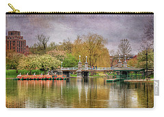 Carry-all Pouch featuring the photograph Spring In The Boston Public Garden by Joann Vitali