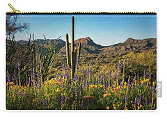 Carry-all Pouch featuring the photograph Spring In The Sonoran  by Saija Lehtonen